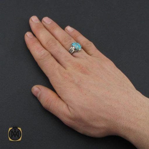 انگشتر فیروزه نیشابوری و مارکازیت مردانه - کد 10482 - 5 191 510x510