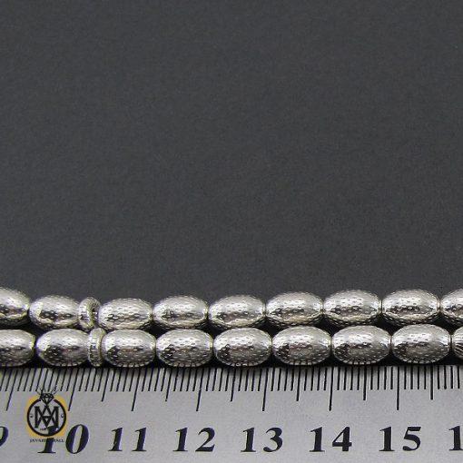 تسبیح 33 دانه نقره هلی طرح نقره ای - کد 4310 - 5 216 510x510