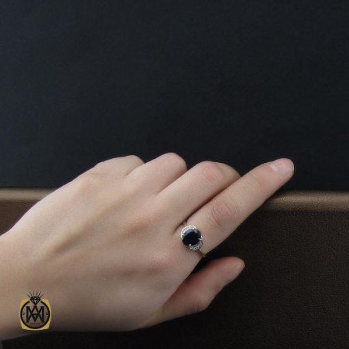 انگشتر یاقوت کبود خوش رنگ طرح غزاله زنانه - کد 2266 - 5 254 510x510