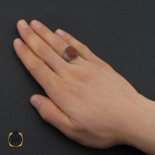 انگشتر عقیق یمن با حکاکی یا صادق الوعد مردانه – کد 10500 - 5 276 510x510