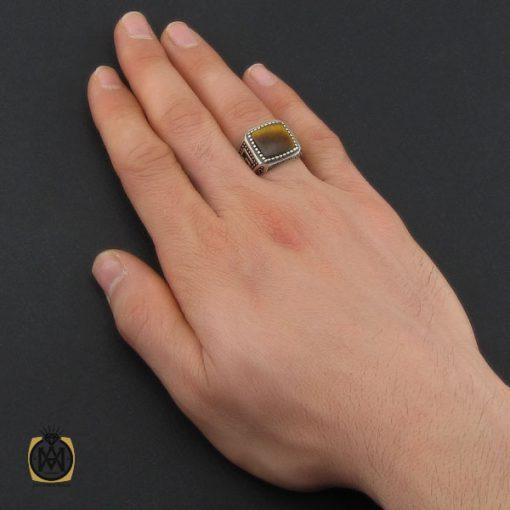 انگشتر چشم ببر طرح ورساچه مردانه - کد 10448 - 5 92 510x510