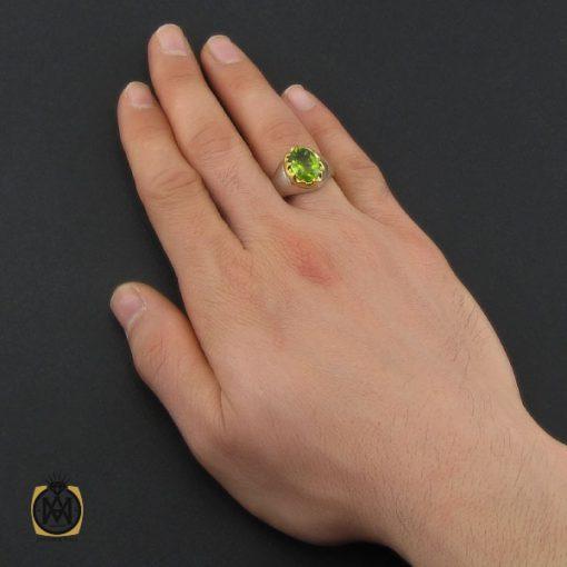 انگشتر زبرجد مردانه هنر دست استاد شرفیان – کد ۱۰۴۵۰