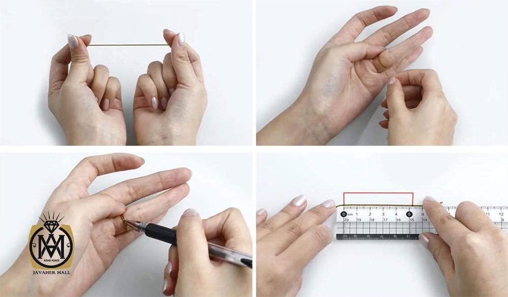 آموزش روش تعیین سایز انگشت با (کاغذ یا نخ) و خط کش