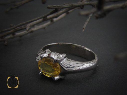 انگشتر یاقوت زرد اسپرت دست ساز - کد 10645 - 00 212 510x383