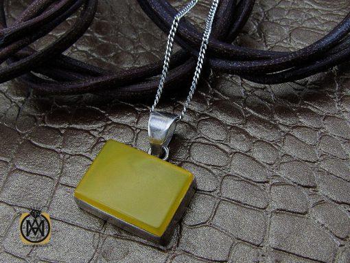 مدال عقیق زرد با حکاکی شرف الشمس اسپرت دست ساز - کد 3259 - 00 230 510x383