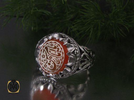 انگشتر عقیق یمن با حکاکی یا امام حسن (ع) مردانه – کد 10552