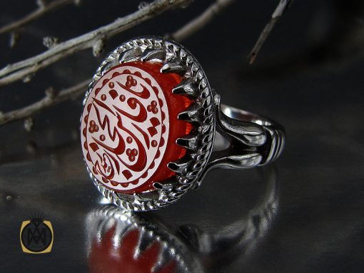 انگشتر عقیق یمن با حکاکی یا فارس الحجاز مردانه – کد ۱۰۵۵۶