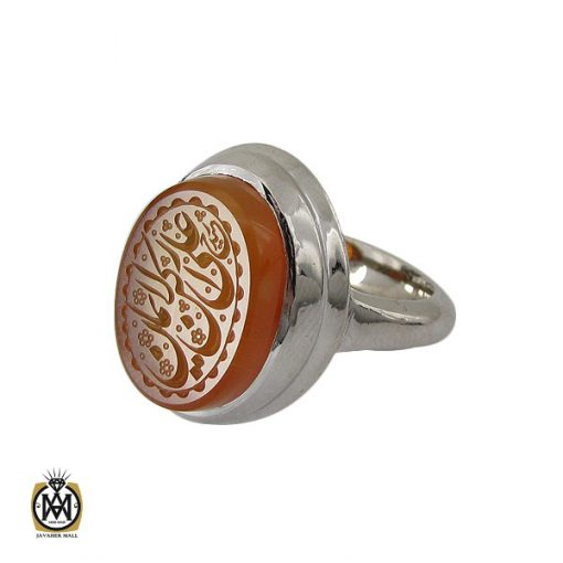انگشتر عقیق یمن با حکاکی علی رکن الایمان مردانه – کد 10603 - 1 139 510x510