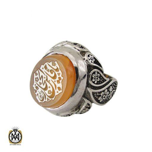 انگشتر عقیق یمن با حکاکی شرف الشمس و یا فارس الحجاز مردانه – کد 10602 - 1 140 510x510