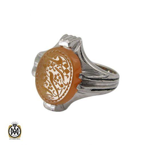 انگشتر عقیق یمن با حکاکی یا زهرا مردانه – کد 10607 - 1 143 510x510