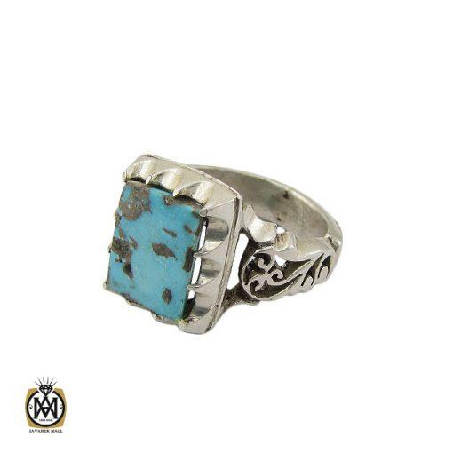 انگشتر فیروزه نیشابوری مردانه دست ساز– کد 10505 - 1 15 510x510