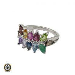انگشتر نقره مردانه با نگین زبرجد - کد 8180 - 1 204 247x247
