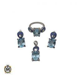 سرویس توپاز آبی طرح آوینا زنانه - کد 7221 - 1 208 247x247