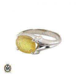 انگشتر یاقوت زرد خوش رنگ مردانه - کد 11040