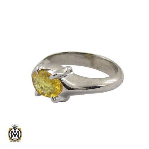 انگشتر یاقوت زرد اسپرت دست ساز - کد 10645 - 1 211 510x510