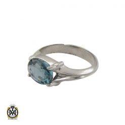 انگشتر توپاز آبی خوش رنگ مردانه - کد 10034 - 1 253 247x247