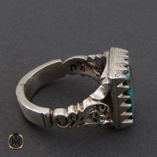 انگشتر فیروزه نیشابوری مردانه دست ساز – کد ۱۰۵۰۲