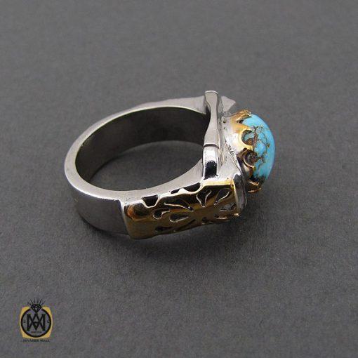 انگشتر فیروزه نیشابوری خوش طبع مردانه طرح صفوی - کد 10643 - 2 179 510x510