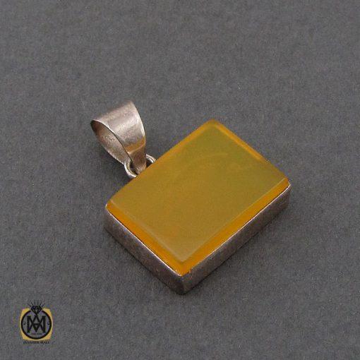 مدال عقیق زرد با حکاکی شرف الشمس اسپرت دست ساز - کد 3259 - 2 227 510x510