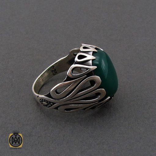 انگشتر عقیق سبز مردانه - کد 10687 - 2 275 510x510
