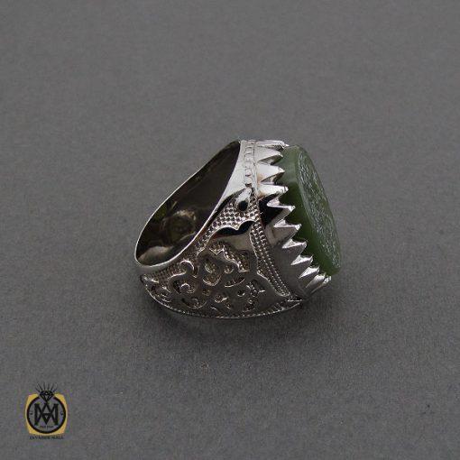 انگشتر یشم با حکاکی یا امام حسن مردانه – کد 10558 - 2 93 510x510