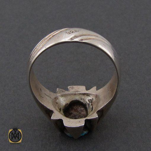 انگشتر فیروزه نیشابوری مردانه دست ساز– کد 10504 - 3 13 510x510
