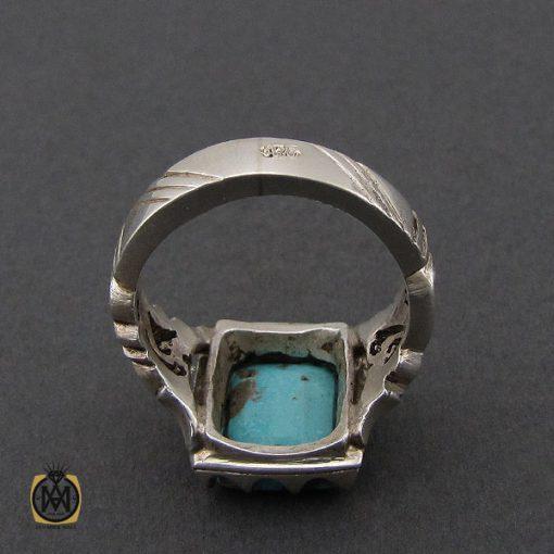 انگشتر فیروزه نیشابوری مردانه دست ساز– کد 10505 - 3 15 510x510