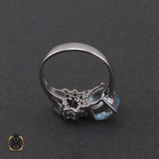 انگشتر توپاز آبی و تورمالین طرح یاسمن زنانه - کد 2284 - 3 194 510x510