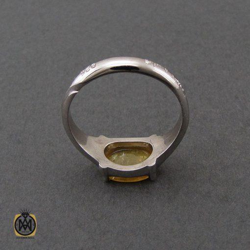 انگشتر یاقوت زرد اسپرت دست ساز - کد 10644