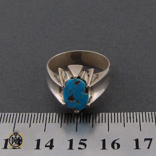 انگشتر فیروزه نیشابوری مردانه دست ساز– کد 10504 - 4 15 510x510