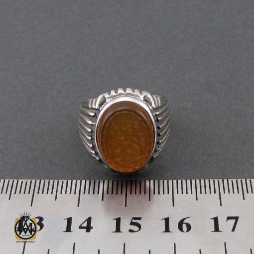 انگشتر عقیق یمن با حکاکی شرف الشمس و یا حسین ثارالله مردانه – کد 10523 - 4 35 510x510
