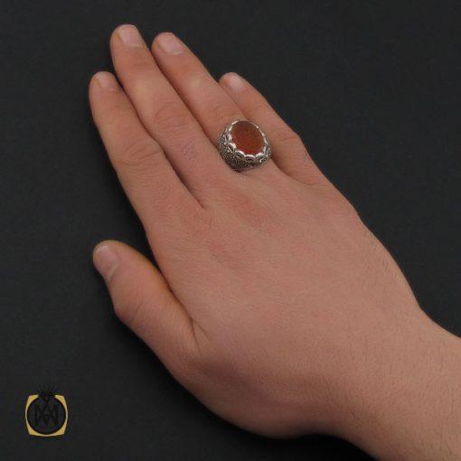 انگشتر عقیق یمن با حکاکی سبحان الحی القیوم مردانه – کد 10572 - 5 104 510x510