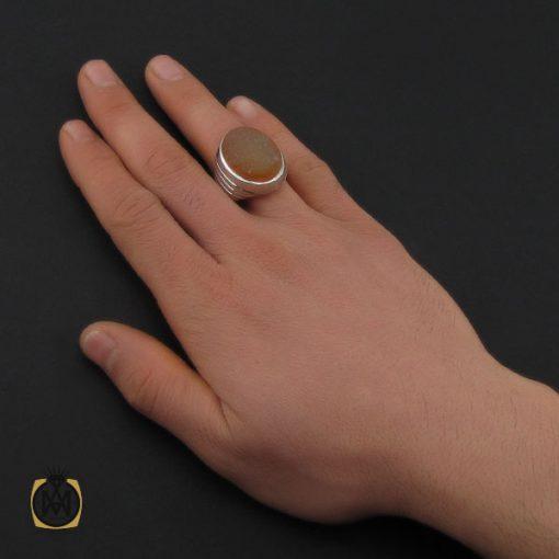 انگشتر عقیق یمن با حکاکی شرف الشمس و یا ضامن آهو مردانه – کد 10573 - 5 105 510x510