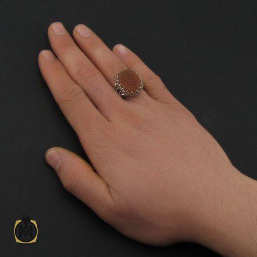 انگشتر عقیق یمن با حکاکی شرف الشمس و یا نفس خیر المرسلین مردانه – کد 10578 - 5 110 510x510