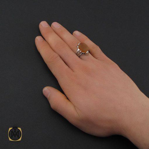 انگشتر عقیق یمن با حکاکی یا قوی مردانه – کد 10595 - 5 127 510x510