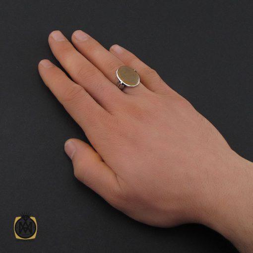 انگشتر عقیق یمن با حکاکی یا ثار الله مردانه – کد 10596 - 5 128 510x510