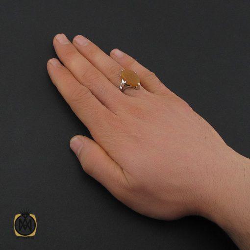 انگشتر عقیق یمن با حکاکی یا فتاح مردانه – کد 10597