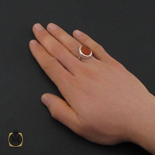 انگشتر عقیق یمن با حکاکی شرف الشمس و یا زینب کبری مردانه – کد 10600 - 5 132 510x510