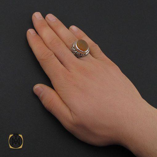 انگشتر عقیق یمن با حکاکی شرف الشمس و یا فارس الحجاز مردانه – کد 10602 - 5 135 510x510