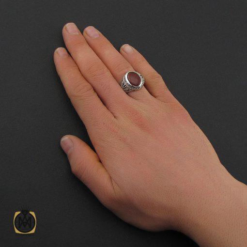انگشتر عقیق یمن مردانه دست ساز - کد 10624 - 5 156 510x510