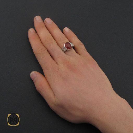 انگشتر عقیق یمن خوش رنگ مردانه دست ساز - کد 10632 - 5 164 510x510