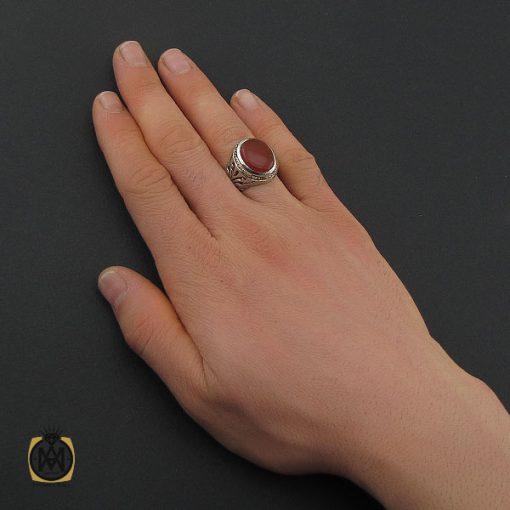 انگشتر عقیق یمن مردانه دست ساز - کد 10633 - 5 165 510x510