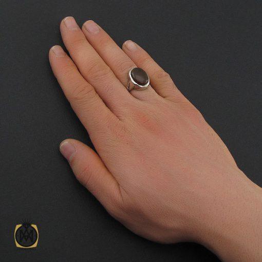 انگشتر عقیق جزع یمن مردانه - کد 10641 - 5 173 510x510