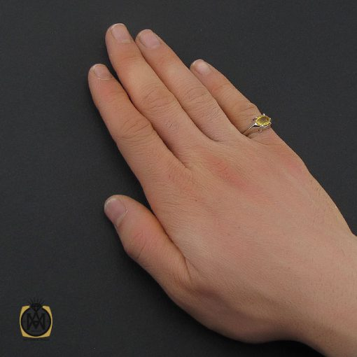 انگشتر یاقوت زرد اسپرت دست ساز - کد 10645 - 5 205 510x510