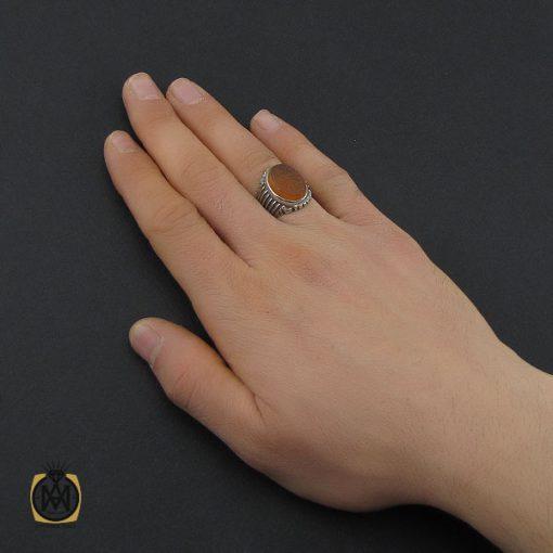 انگشتر عقیق یمن با حکاکی شرف الشمس و یا حسین ثارالله مردانه – کد 10523 - 5 32 510x510