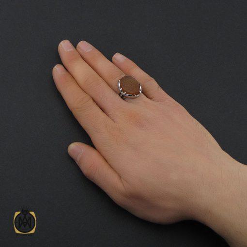 انگشتر عقیق یمن با حکاکی مهدی طاووس اهل الجنه مردانه – کد 10534 - 5 43 510x510