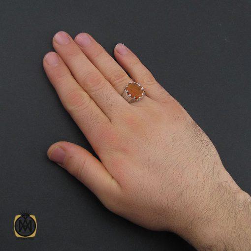 انگشتر عقیق یمن با حکاکی یا عقیله العرب مردانه دست ساز – کد 10554 - 5 86 510x510