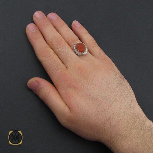 انگشتر عقیق یمن با حکاکی یا فارس الحجاز مردانه – کد 10556 - 5 88 510x510