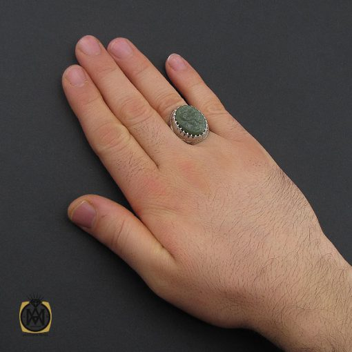انگشتر یشم با حکاکی یا امام حسن مردانه – کد 10558 - 5 90 510x510