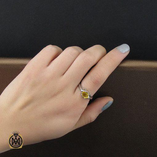 انگشتر یاقوت زرد اسپرت دست ساز - کد 10645 - 6 31 510x510